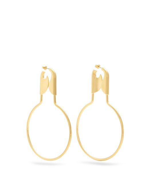 Balenciaga | Metallic Round Safety Pin Earrings | Lyst