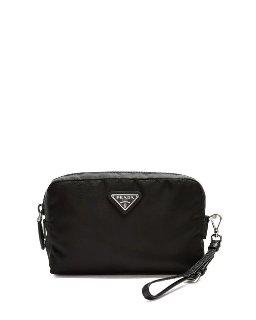 Prada   Black Zip-around Cosmetics Case   Lyst