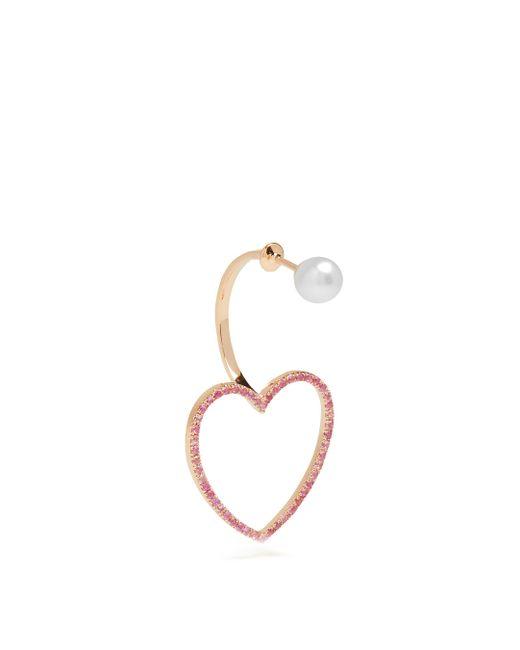 Delfina Delettrez | Sapphire, Pearl & Pink-gold Earring | Lyst