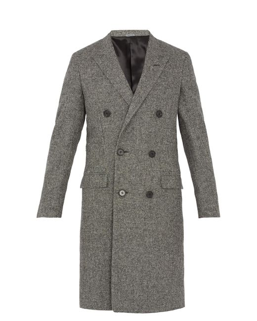 Lanvin | Multicolor Double-breasted Checked Wool Coat for Men | Lyst