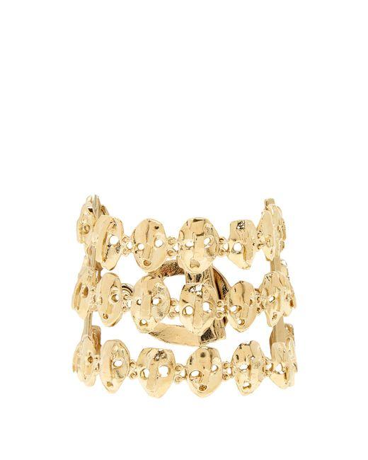 Valentino   Metallic Three Strand Skull-embellished Bracelet   Lyst