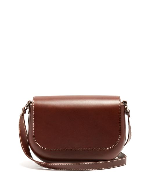 A.P.C. | Brown James Leather Cross-body Bag | Lyst