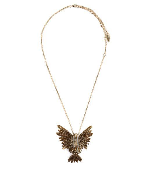 Lanvin   Metallic Crystal-embellished Swan Necklace   Lyst