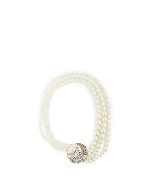 Miu Miu | Metallic Faux-pearl And Crystal Necklace | Lyst