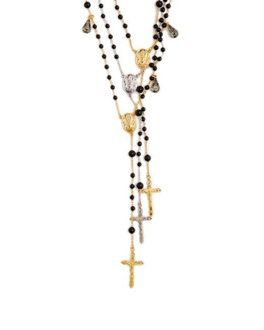 Dolce & Gabbana   Black Triple-strand Rosary Necklace   Lyst