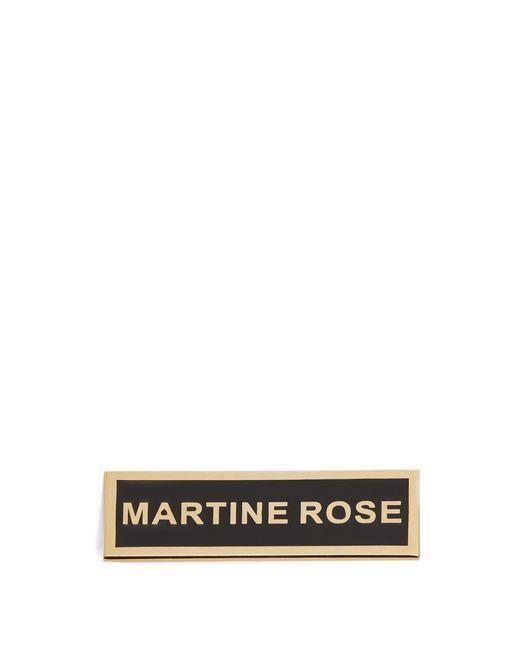 Martine Rose | Metallic Logo Enamel Badge | Lyst