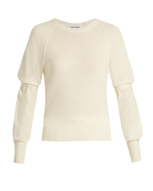 Elizabeth and James | Natural Emerald Tie-sleeve Sweater | Lyst