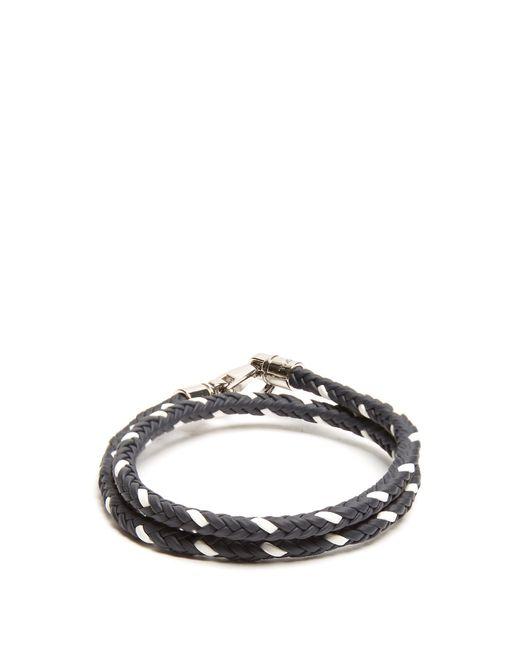 Tod's | Blue Mycolours Woven-leather Bracelet for Men | Lyst