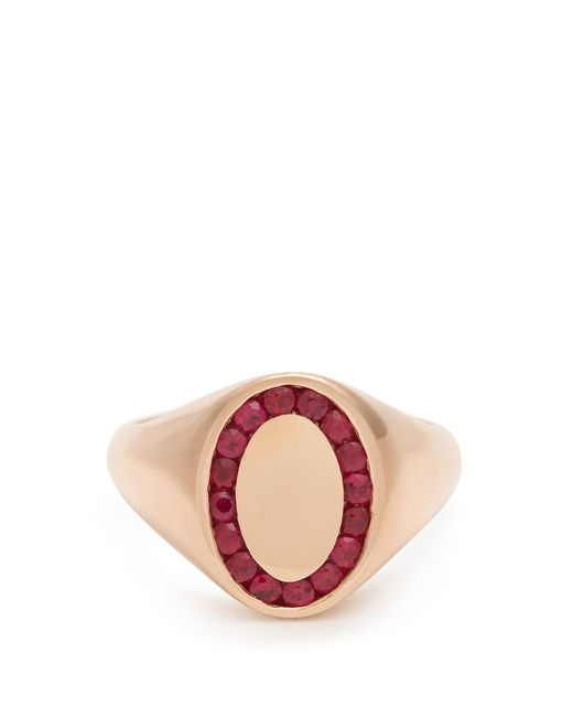 Jessica Biales | Red Ruby & Pink-gold Ring | Lyst