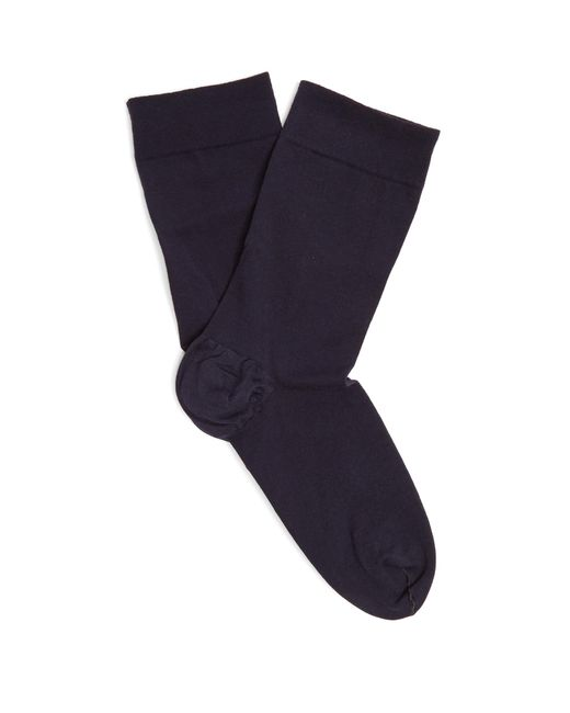 Wolford   Blue Cotton-blend Ankle Socks   Lyst