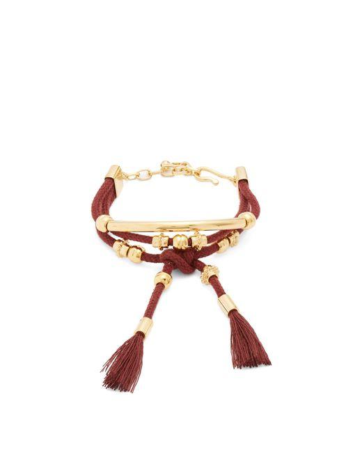 Chloé - Multicolor Otis Gold-tone Cord Bracelet - Lyst