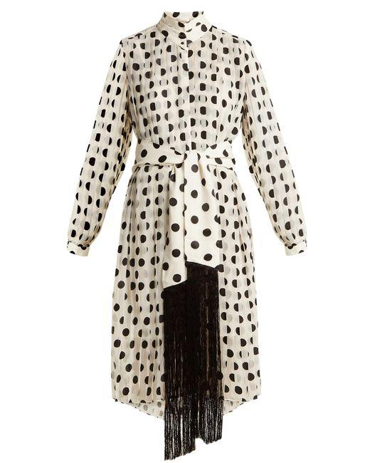 Zimmermann   Multicolor Rife High-neck Pleated Polka-dot Dress   Lyst