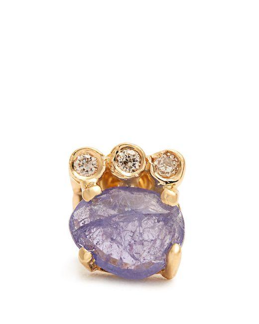 Jacquie Aiche   Multicolor Diamond, Tanzanite & Yellow-gold Earring   Lyst