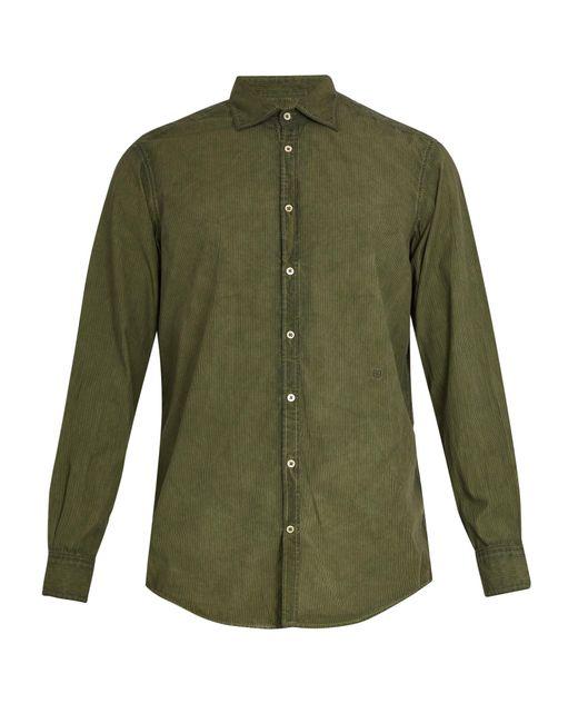Massimo Alba | Green Point-collar Striped Cotton Shirt for Men | Lyst