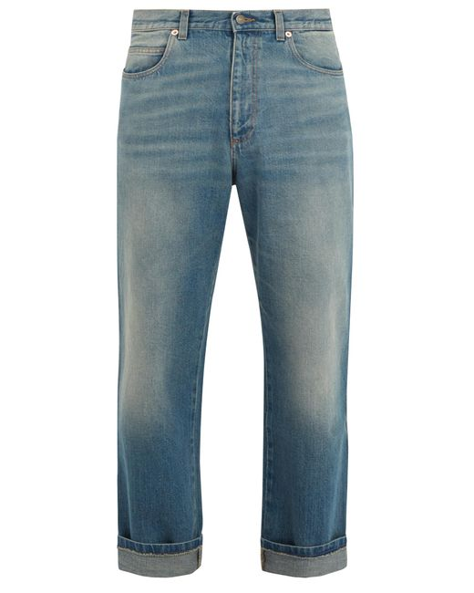 Gucci | Blue Stone-washed Straight-leg Jeans for Men | Lyst