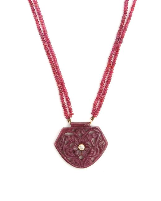 Jade Jagger | Red Diamond, Ruby & Yellow-gold Necklace | Lyst