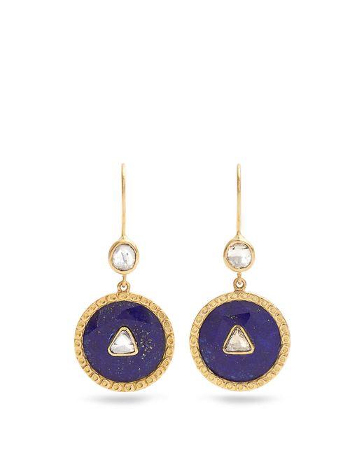 Jade Jagger | Blue Diamond, Lapis & Yellow-gold Earrings | Lyst
