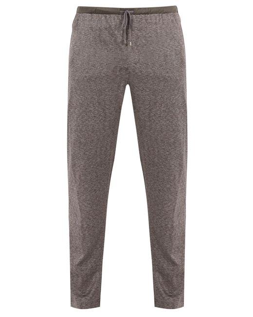 Zimmerli | Gray Jacquard Cotton And Silk-blend Jersey Trousers for Men | Lyst