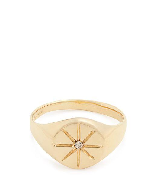 Jacquie Aiche   Metallic Diamond & Yellow-gold Ring   Lyst