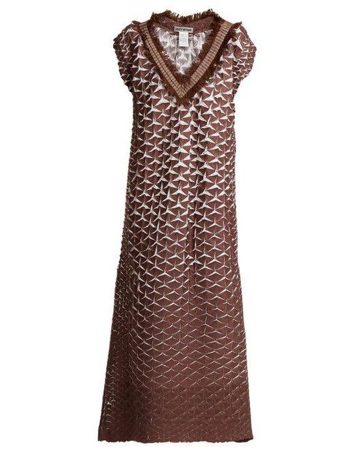 Retrospect 1 pleated fringe-trimmed dress Issey Miyake mE1PmeV1v