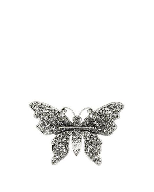 Gucci Crystal-embellished butterfly brooch tKLNco
