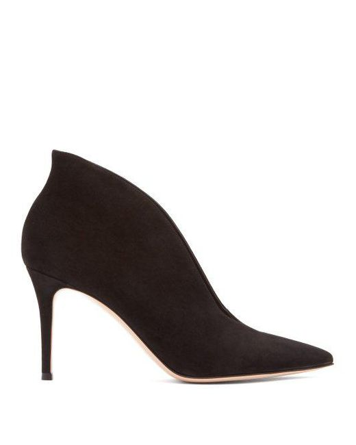 Vania 85 suede ankle boots Gianvito Rossi IlJQpgq5