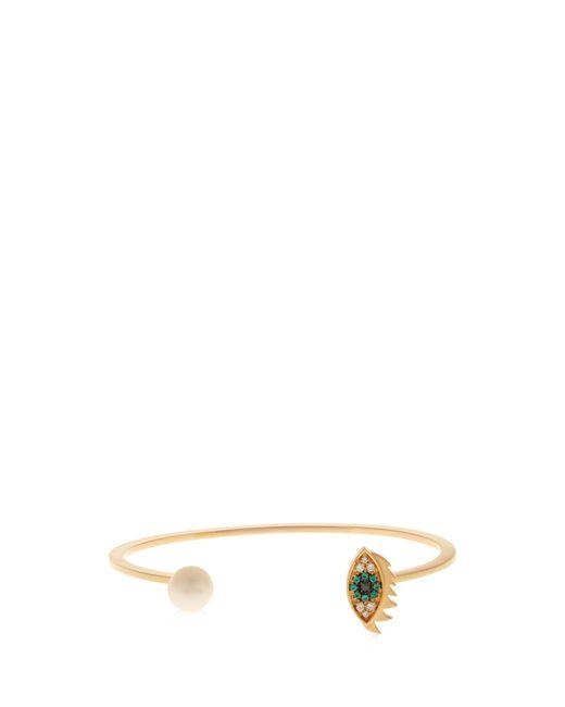 Delfina Delettrez | Metallic Diamond, Sapphire, Pearl & Yellow-gold Cuff | Lyst