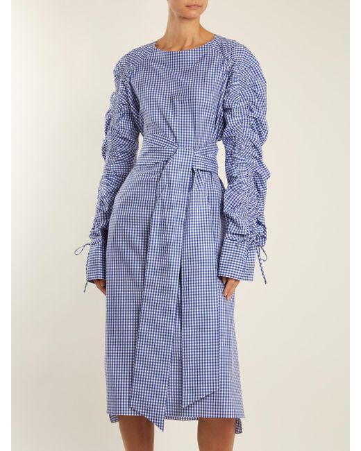 Tie-waist gingham-cotton dress Teija Cheap Sale Best Store To Get Sale Online Shop Clearance Outlet Store KsZZbHuRi9