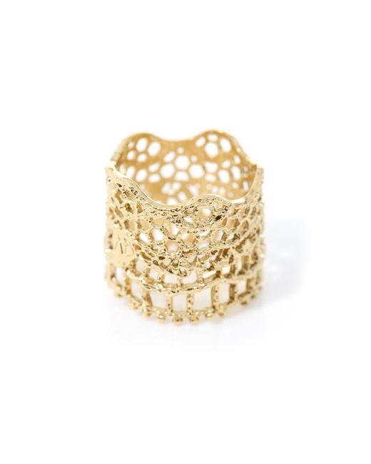 Aurelie Bidermann   Metallic Gold-plated Vintage Lace Ring   Lyst