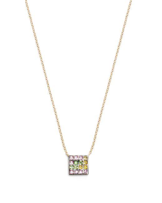 Ileana Makri - Metallic Sapphire, Amethyst, Tsavorite & Gold Necklace - Lyst