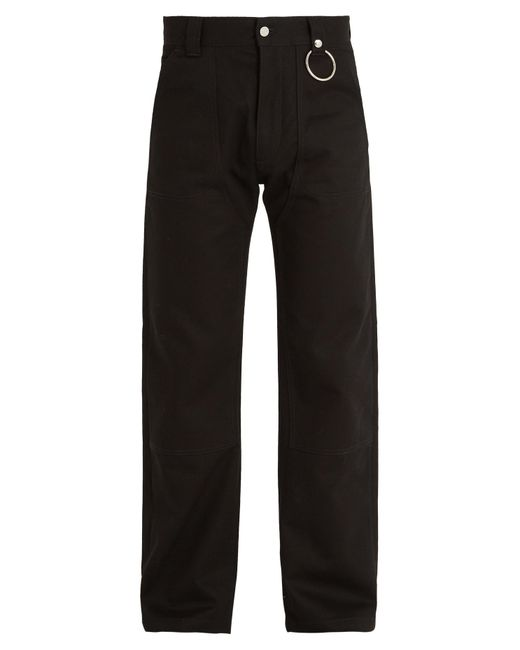 Givenchy | Black Straight-leg Cotton-drill Trousers for Men | Lyst
