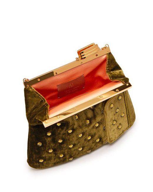 4AM crystal-embellished velvet clutch Bienen-Davis 2O7iU