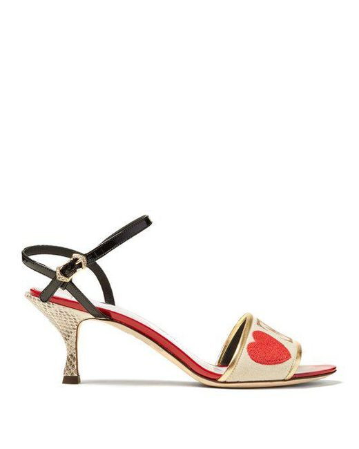 Amore En Cuir Et Des Sandales Snakeskin Dolce & Gabbana cXzO0GMqGo