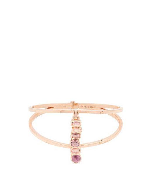 Marie Mas - Amethyst, Topaz & Pink-gold Bangle - Lyst