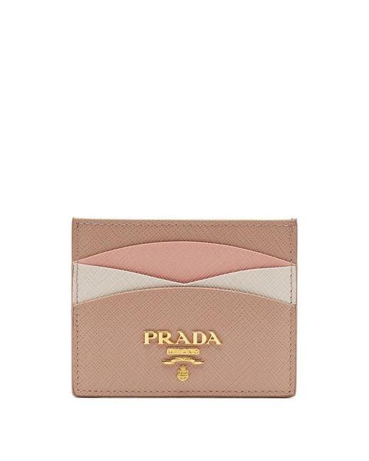 Prada - Multicolor Scalloped Leather Cardholder - Lyst