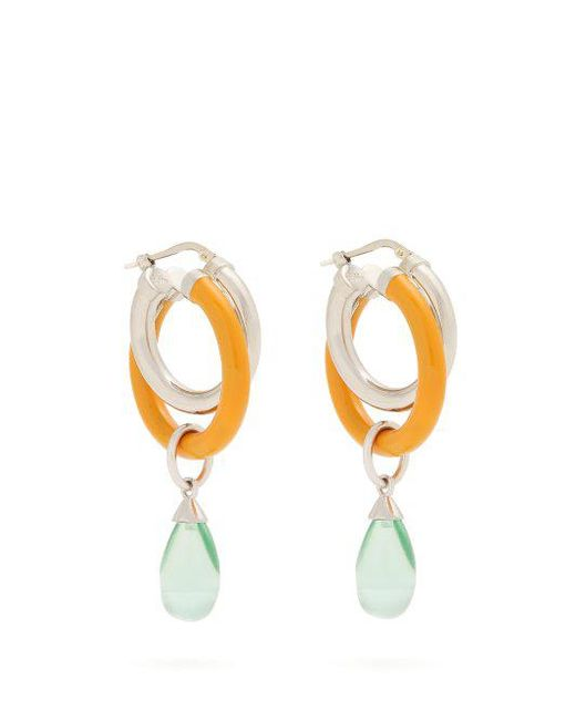 Large glass pendant double-hoop earrings Peter Pilotto fFMFuY2XM