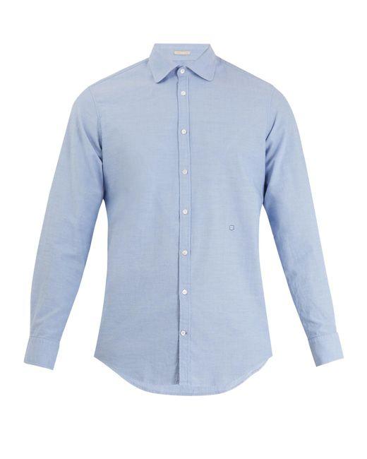 Massimo Alba - Blue Spread-collar Cotton Shirt for Men - Lyst