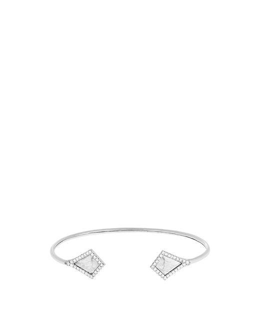 Susan Foster | Metallic Diamond Slice & White-gold Cuff | Lyst