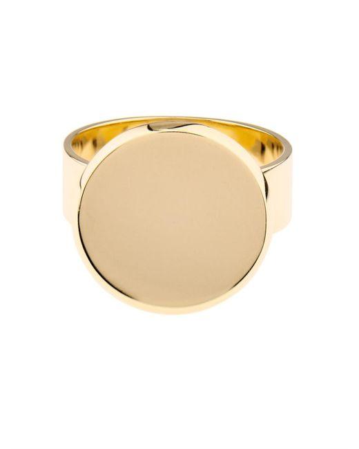 DINA KAMAL DK01 | Yellow-gold Flat-coin Ring | Lyst