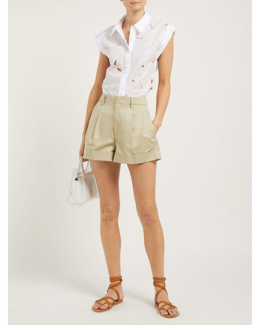 4491618c Lyst - See By Chloé Summer Floral Broderie Anglaise Cotton Shirt in ...