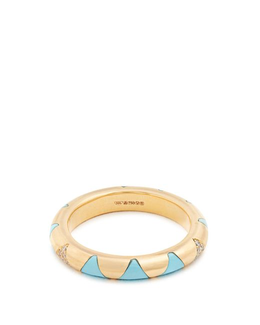 Marc Alary | Blue Diamond, Turquoise & Yellow-gold Ring | Lyst