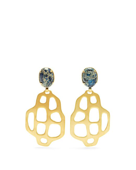 Marte Frisnes | Metallic Avalon Quartz And Gold-plated Earrings | Lyst
