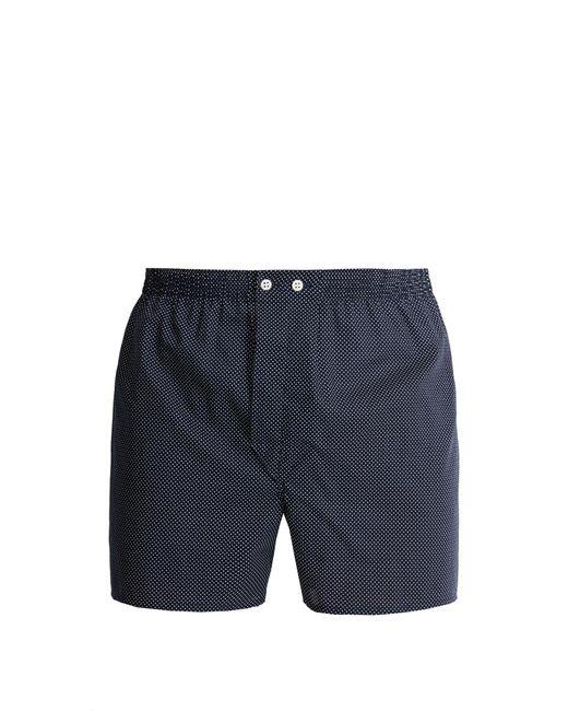 Derek Rose | Blue Pin-dot Cotton Boxer Shorts for Men | Lyst