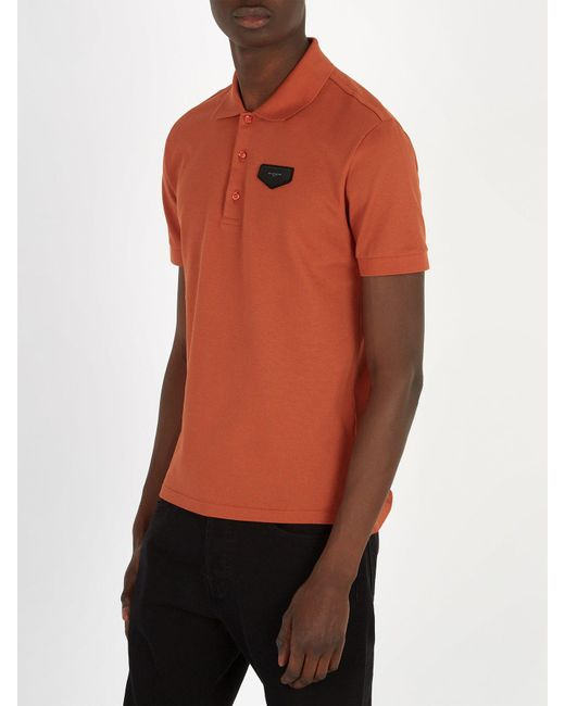 ffaa54a3 ... Givenchy - Orange Antigona Patch Polo Shirt for Men - Lyst ...