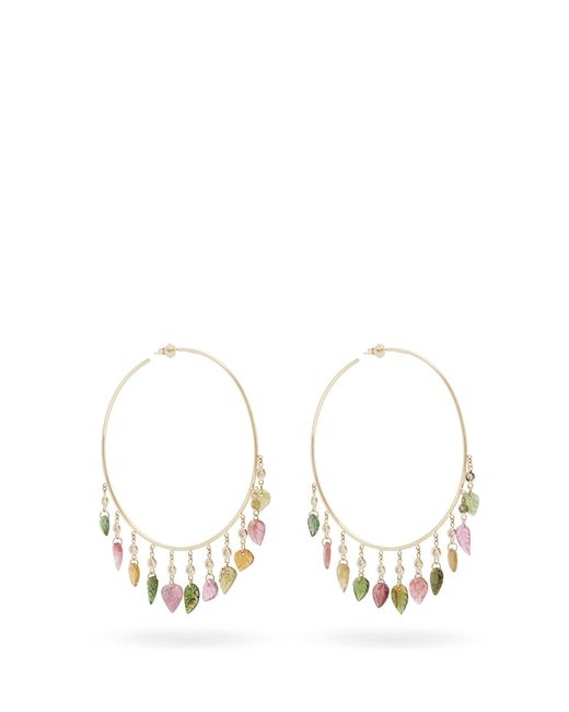 Jacquie Aiche - Metallic Diamond, Tourmaline & Gold Earrings - Lyst