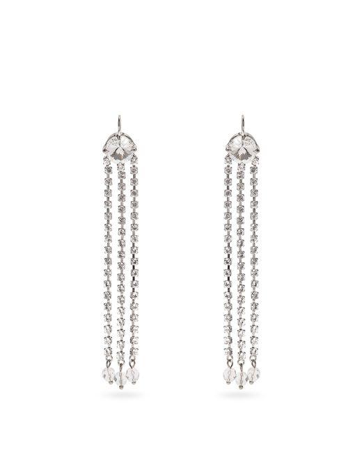 Miu Miu | Metallic Crystal-embellished Drop Earrings | Lyst