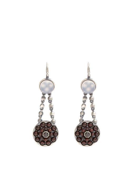 Bottega Veneta | Red Stone Drop Earrings | Lyst