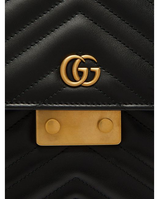 b4a07f50a76c ... Gucci - Black Gg Marmont Leather Briefcase for Men - Lyst