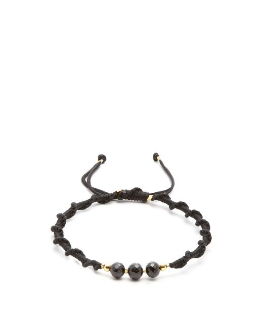 Black Dakini | Black Bead-embellished Cord Bracelet for Men | Lyst