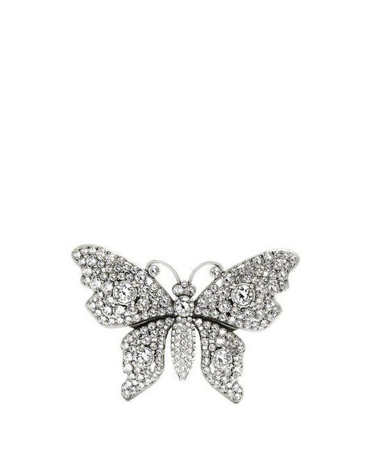 Gucci - Multicolor Crystal-embellished Butterfly Brooch - Lyst